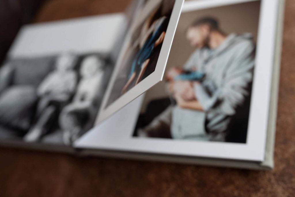 close up of photo storybook